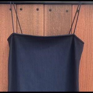 Navy blue ribbed dress